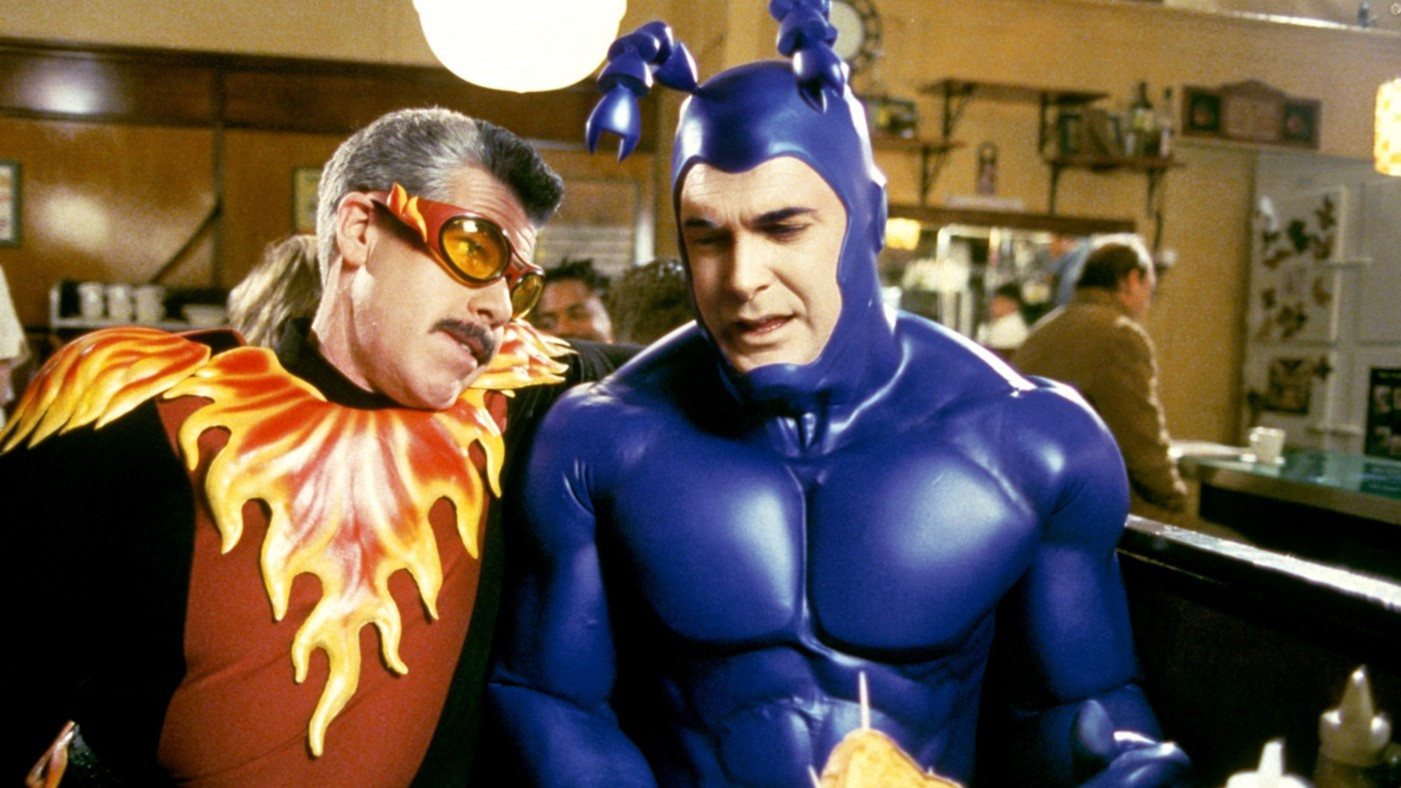 THE TICK, Ron Perlman, Patrick Warburton, 'Couples', (Season 1), 2001-2002, © Columbia TriStar / Courtesy: Everett Collection
