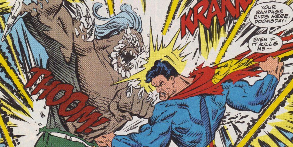 В комиксе Супермена убил суперзлодей Думсдей. В сценариях его обычно и не вспоминали.