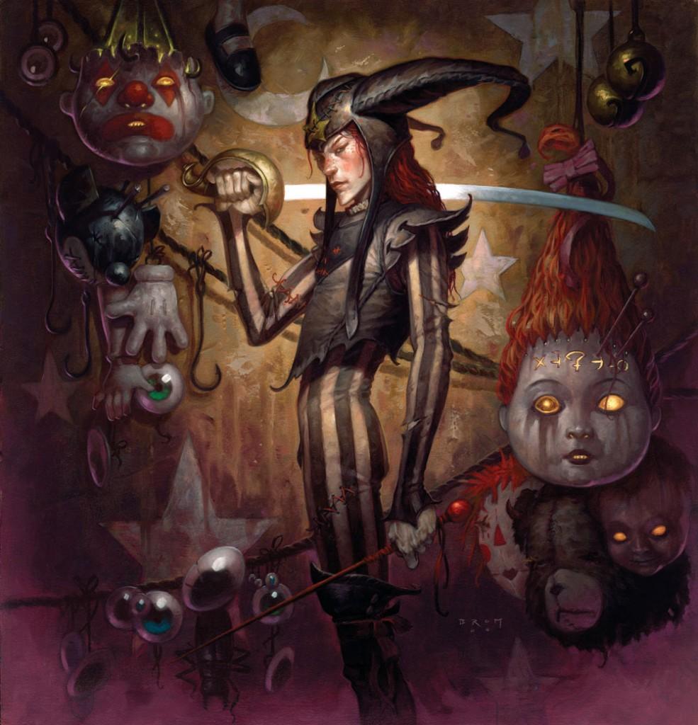 Обложка к книге «Плюкер». Здесь изображен главный герой – Джек из коробки. Джек вместе с другими забытыми и выброшенными игрушками пылится в сумрачной земле Понарошку. Но когда в этот мир проникает злобный дух Плюкер, Джеку приходится встать на защиту того самого мальчишки, который когда-то его бросил.