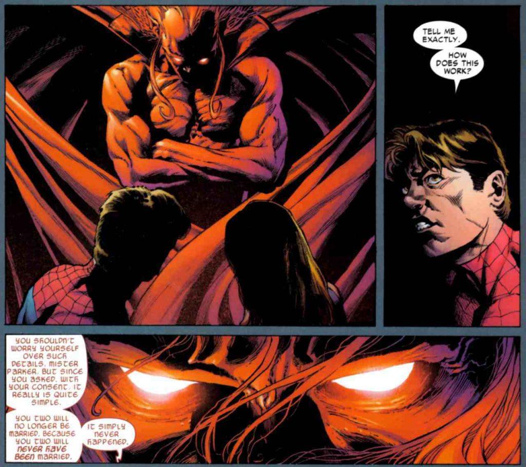 Демон всё честно объяснил Пауку — тот сам сделал выбор.
