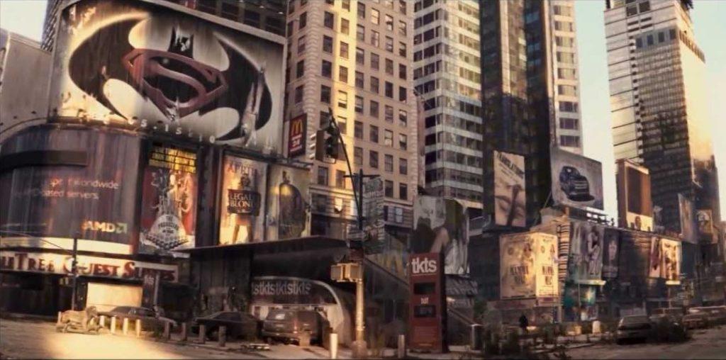 Всё, что осталось от первой версии «Бэтмена против Супермена», — вот эта «пасхалка» в фильме «Я — легенда».