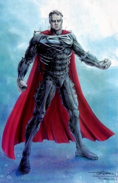 По мнению продюсера, Супермен в голубом трико смахивал на гея. А в чёрном латексе — совсем другое дело!