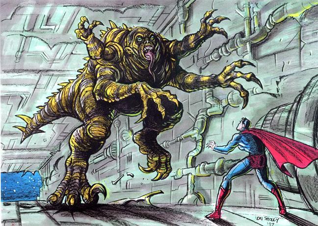 ***КАРТИНКИ brainiac-1, 2.jpg — В комиксах Брэйниак был всего лишь инопланетным андроидом. Во что его собирались превратить в фильме, страшно смотреть.