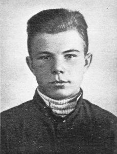 Юрий во время учёбы на литейщика