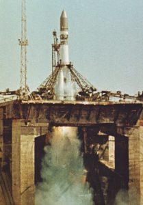 Старт космического корабля «Восток» с Юрием Гагариным на борту