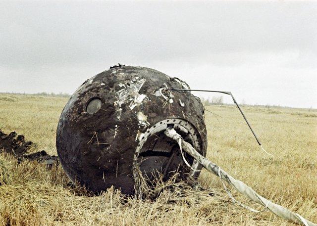 Спускаемый аппарат корабля «Восток» после приземления