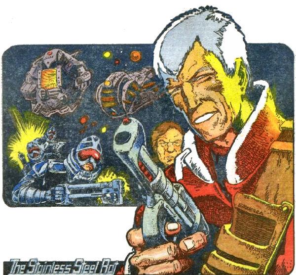 Стальная Крыса, Джим ди Гриз, стал ещё и героем комиксов, публиковавшихся в журнале 2000 A. D. — оттуда же родом Судья Дредд.