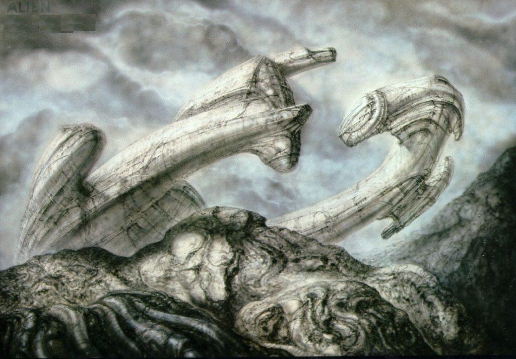 Инопланетный корабль в видении Гигера