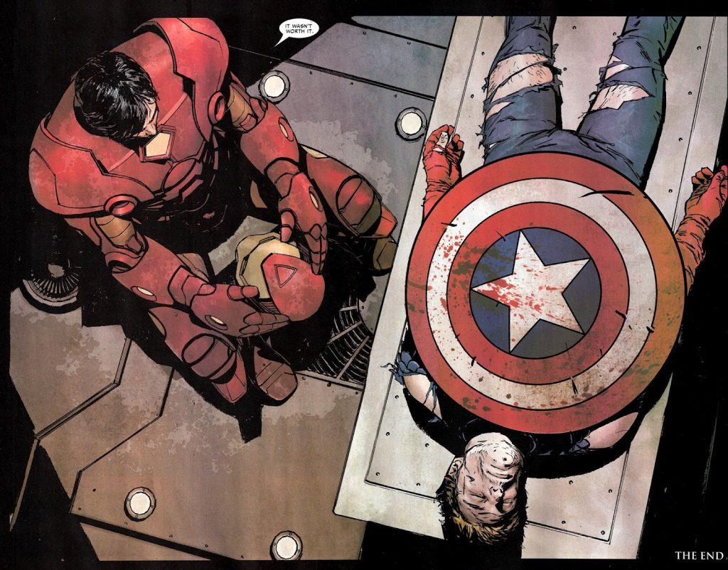 Тони Старк раскаялся в своей жестокости. Но уже над телом убитого соперника