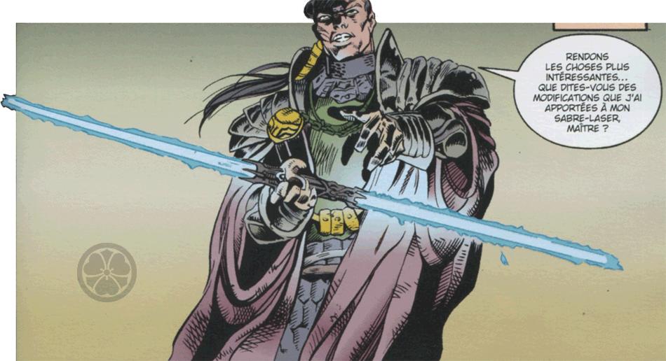 Двухклинковый световой меч Дарта Мола впервые был создан Экзаром Куном в комиксе «Сказания о джедаях»