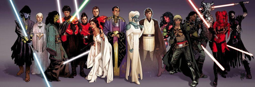 …и далёкое будущее, во времена, когда Люк уже умер и стал Призраком Силы