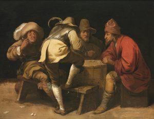 Солдаты, играющие вкости