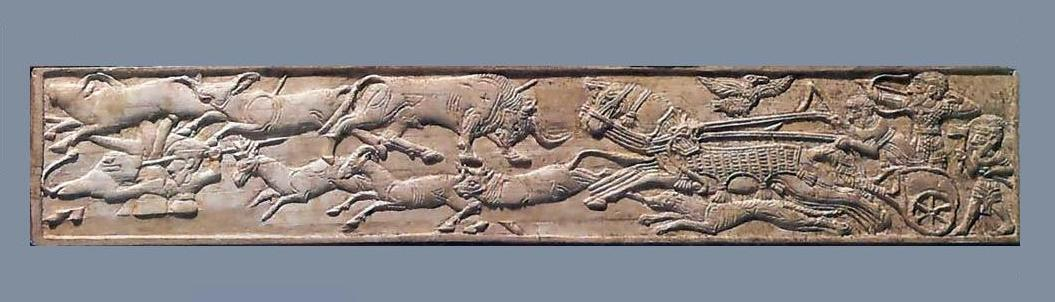 Игровые наборы асэб украшены изображением колесниц гиксосов-кочевников. Вероятно, именно они занесли игру в Египет