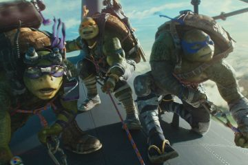 Left to right: Leonardo, Michelangelo and Donatello in Teenage Mutant Ninja Turtles: Out of the Shadows from Paramount Pictures, Nickelodeon Movies and Platinum Dunes