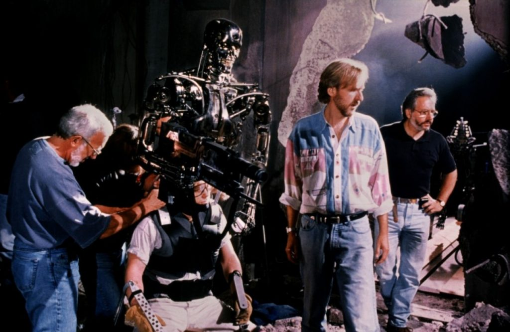 Кэмерон на съёмочной площадке