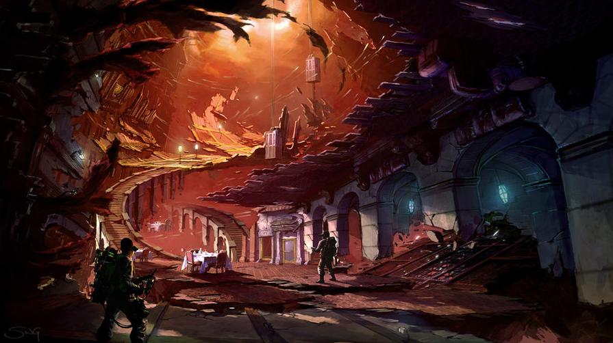 Неснятый сценарий повлиял на сюжет игры Ghostbusters. Концепт-арт художника Стюарта Нг к игре