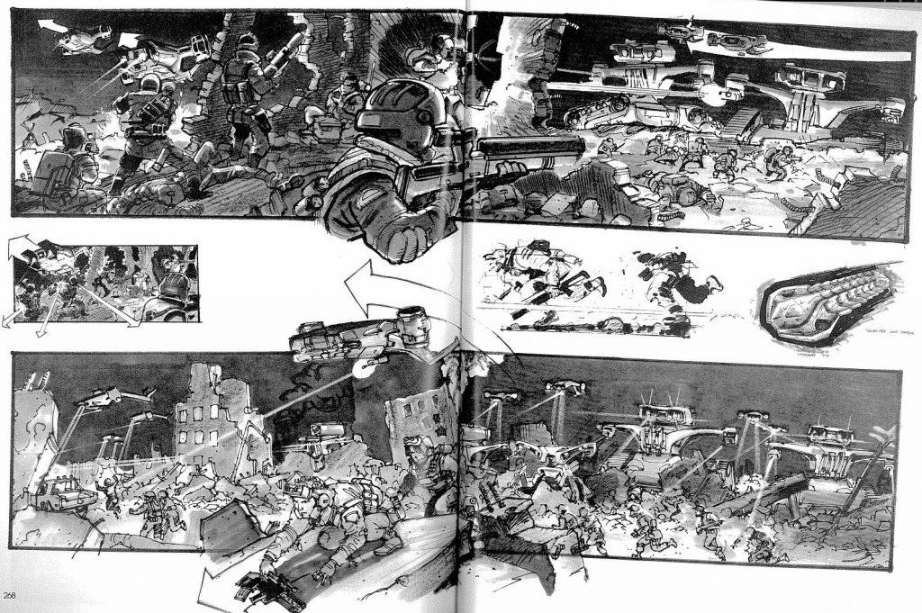 Раскадровка начальной сцены «Терминатора 2»