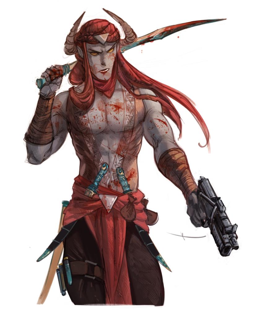 Ярх, персонаж комикса «Бесобой», концепт