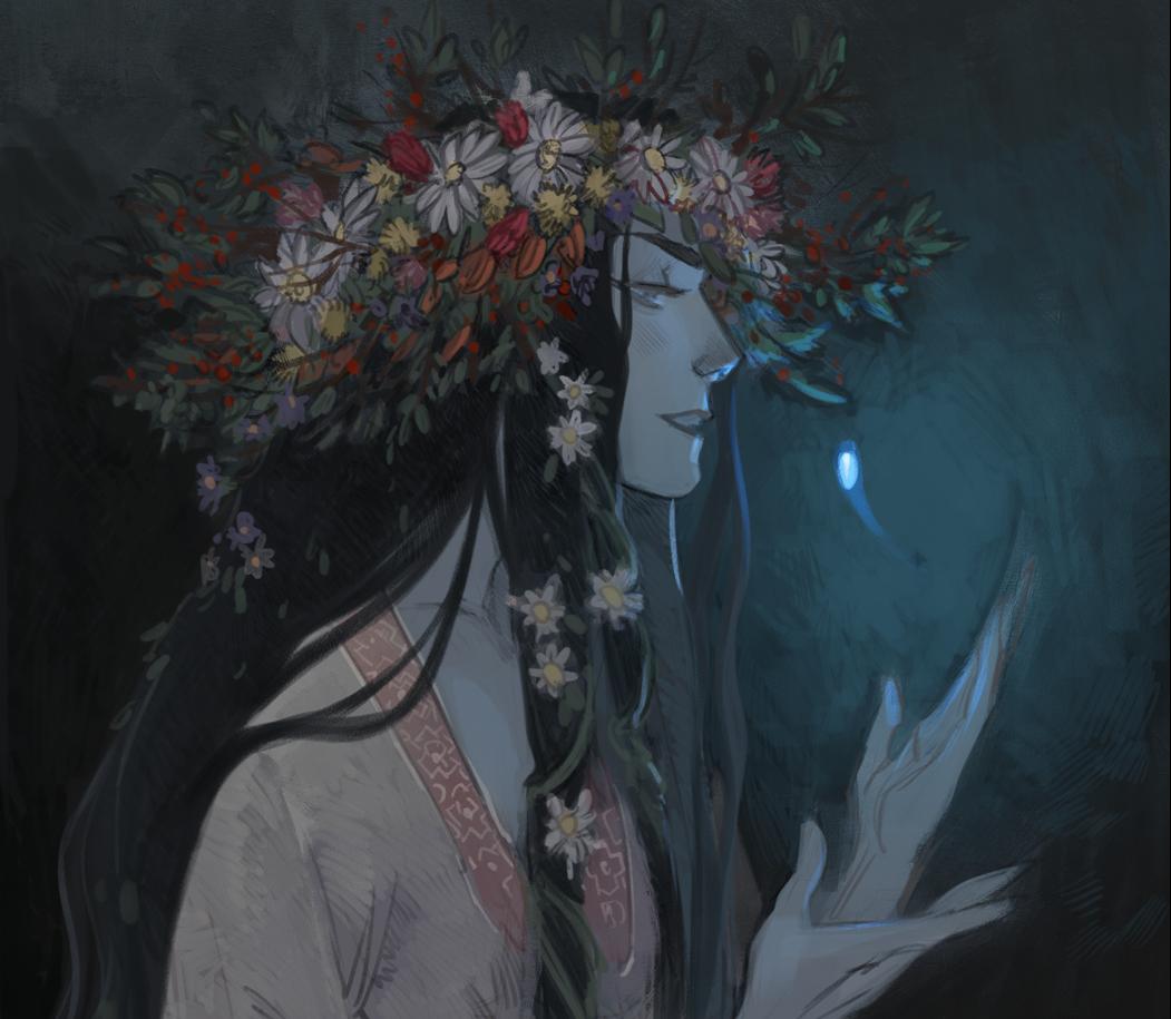 Ведьма, арт в честь Вальпургиевой ночи