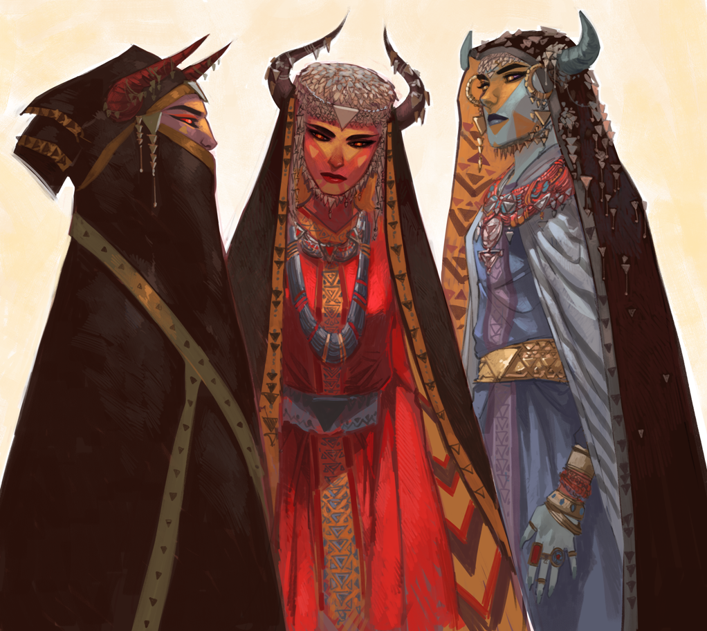 Демоницы, концепт для комикса «Бесобой»