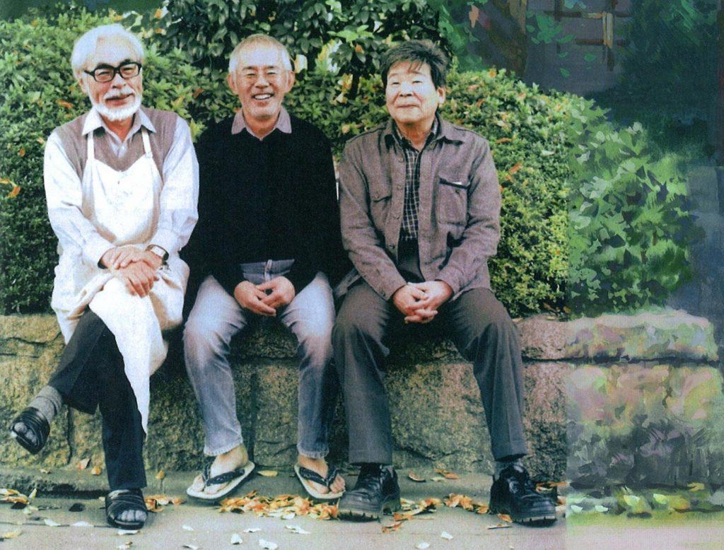 Слева направо: Хаяо Миядзаки, Тосио Судзуки, Исао Такахата