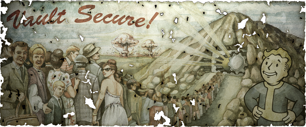 Хотя в мире Fallout Третья мировая началась в 2077 году, антураж игры вдохновлён как раз эпохой Карибского кризиса