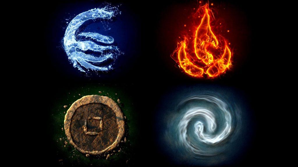Популярная в фэнтези система четырёх «стихий» — это упрощённое понимание древнегреческой физики. По Аристотелю Земля, Вода, Воздух и Огонь переходят друг в друга. Так что они скорее соответствуют агрегатным состояниями вещества — твёрдому, жидкому, газообразному и плазменному