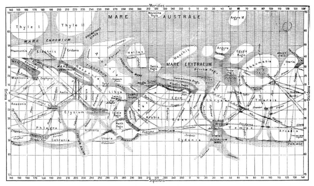 К середине XX века дефекты плёнки в нацеленных на Марс фотокамерах позволили уточнить карту «каналов». И стало ясно, что напоминают они не ирригационную систему, а транспортную сеть. Отсылки к этому «открытию» можно найти в «Человеке с Марса» Станислава Лема
