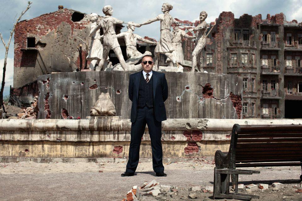 Александр Роднянский на съёмках фильма «Сталинград»