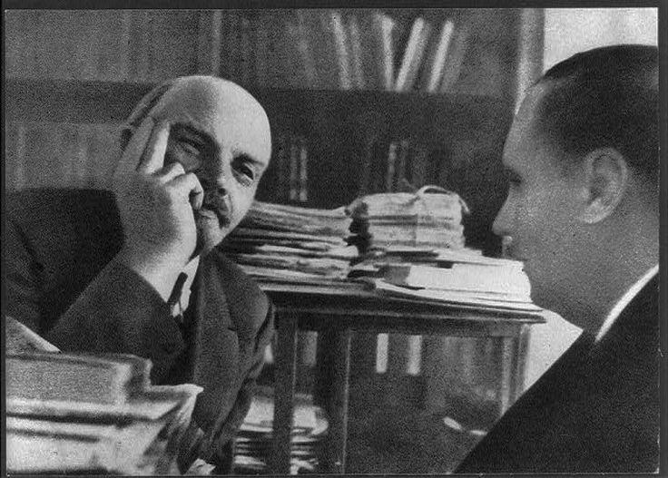 Уэллс на встрече с Лениным