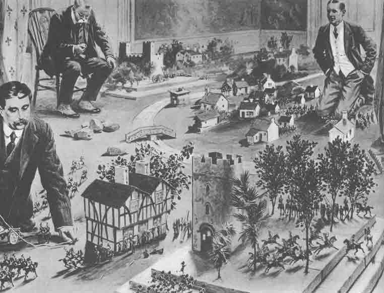 Герберт Уэллс играет в настольный варгейм Little Wars