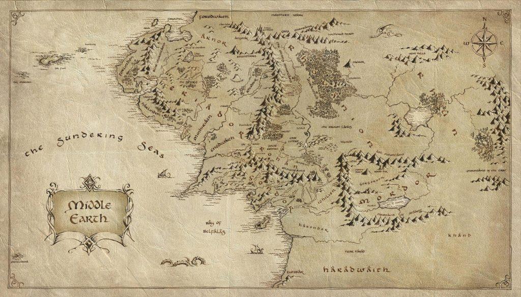 Карта Средиземья