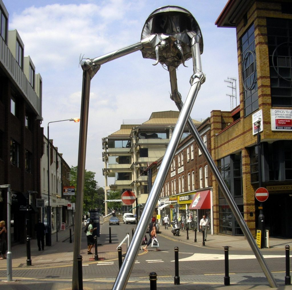 Великобритания, Уокинг. Памятник на месте первой высадки марсиан