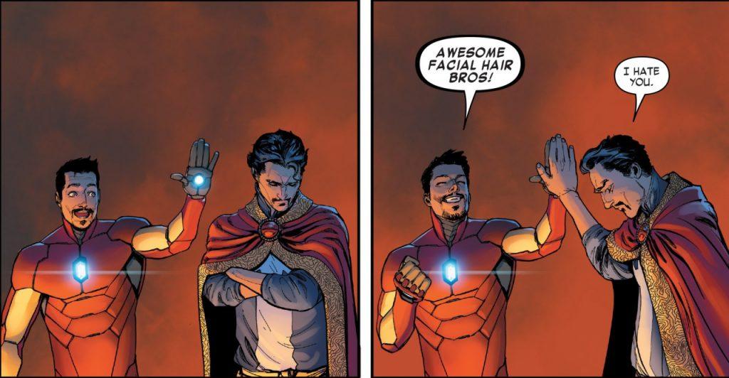 Старк и Стрэндж — братаны по шикарным усам!