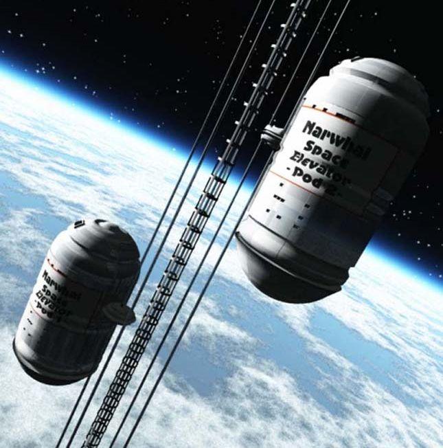 Первой задачей лифта станет доставка на орбиту материалов для изготовления более основательного троса, по которому двинутся тяжёлые грузовые и пассажирские кабины