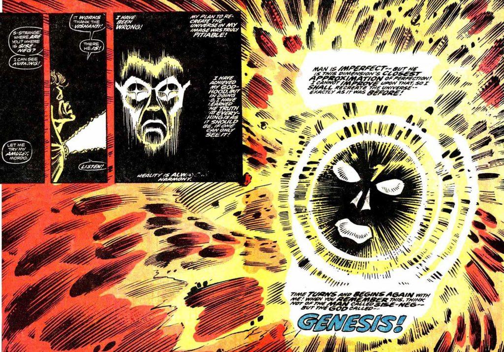 Волшебник Сисе-Нег (Genesis наоборот) на глазах у Стрэнджа сотворяет Вселенную