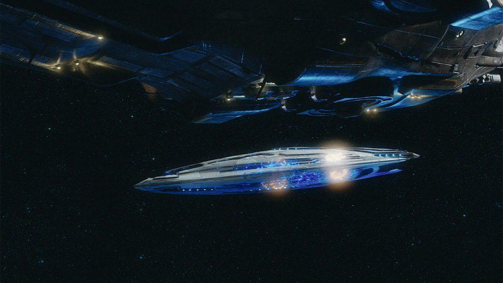 Виды космоса и звездолётов в сериале не то чтобы плохи, но редки
