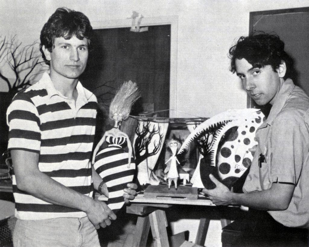 Тим Бёртон времён диснеевской «каторги» (справа)