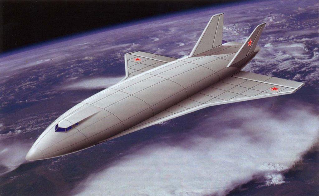 Гравитационная катапульта может быть экономичнее ракеты-носителя, если применить в качестве «клети» не челнок, а орбитальный самолёт, реактивные двигатели которого в качестве окислителя используют кислород из атмосферы (на рисунке советский проект М-19)