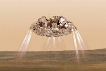 Европейский спутник прямо сейчас садится на Марс