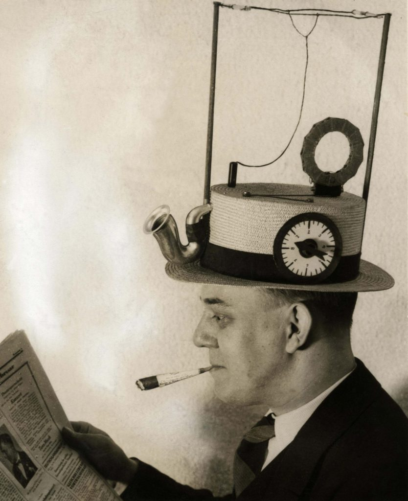 Portable radio in a straw hat, made by an American inventor. Date: 1931. (Mary Evans Picture Library/CATERS NEWS)