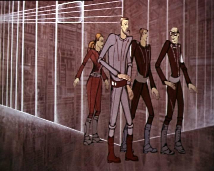 Авангардистская манера рисунка делает «Космических пришельцев» мультфильмом на любителя