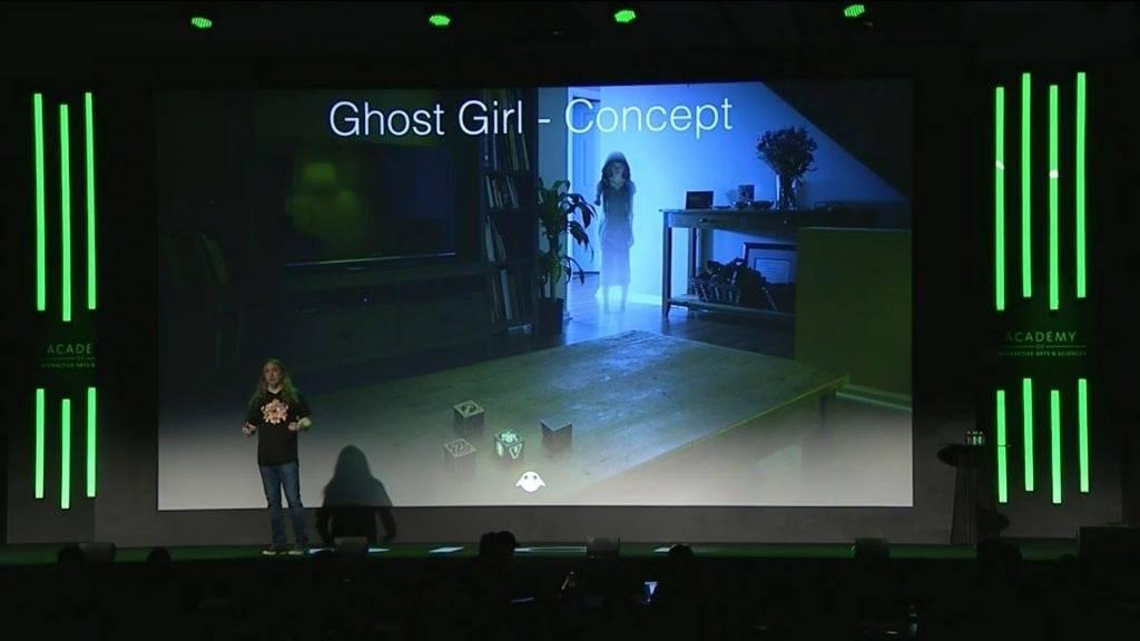 На конференции D.I.C.E. показали концепт AR-игры про девушку-призрака 1