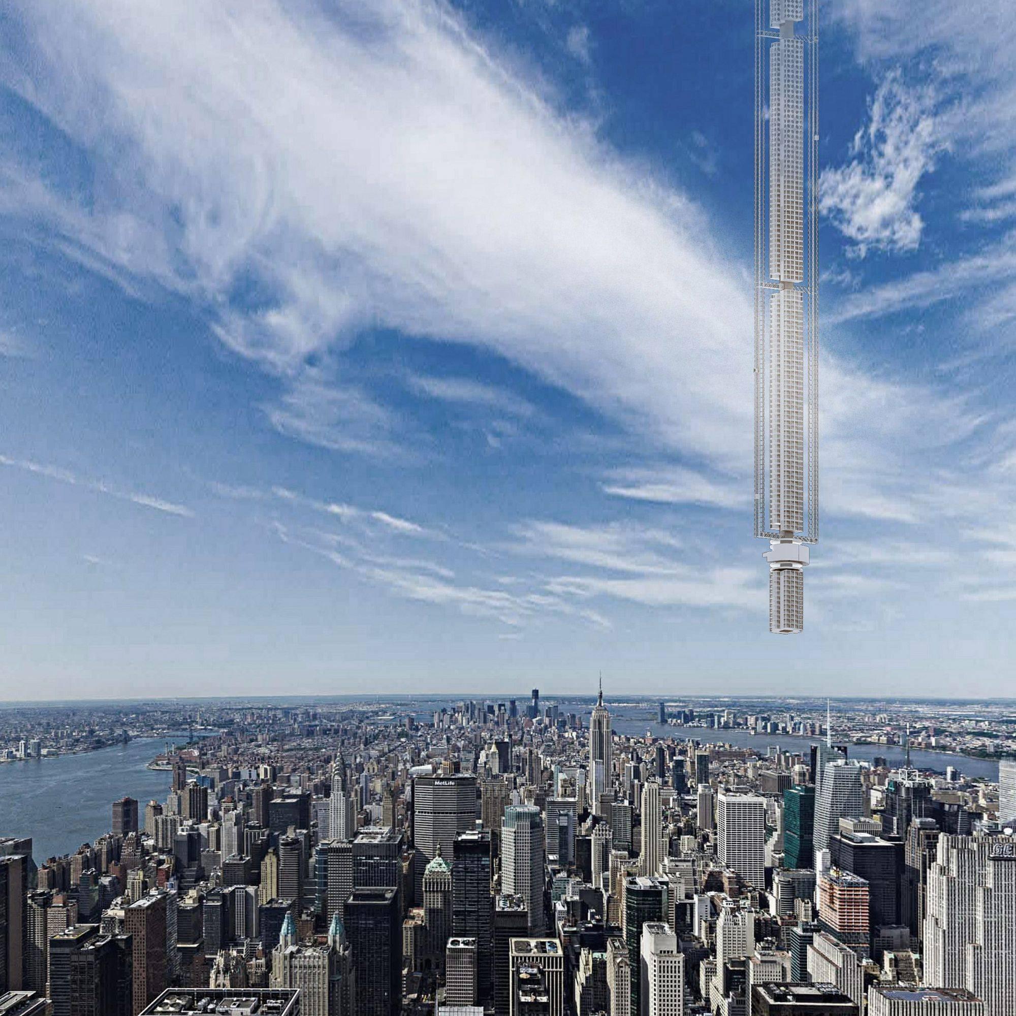 В Дубае хотят построить башню, свисающую с неба