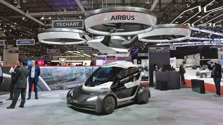 Компания Airbus представила концепт летающего автомобиля-дрона