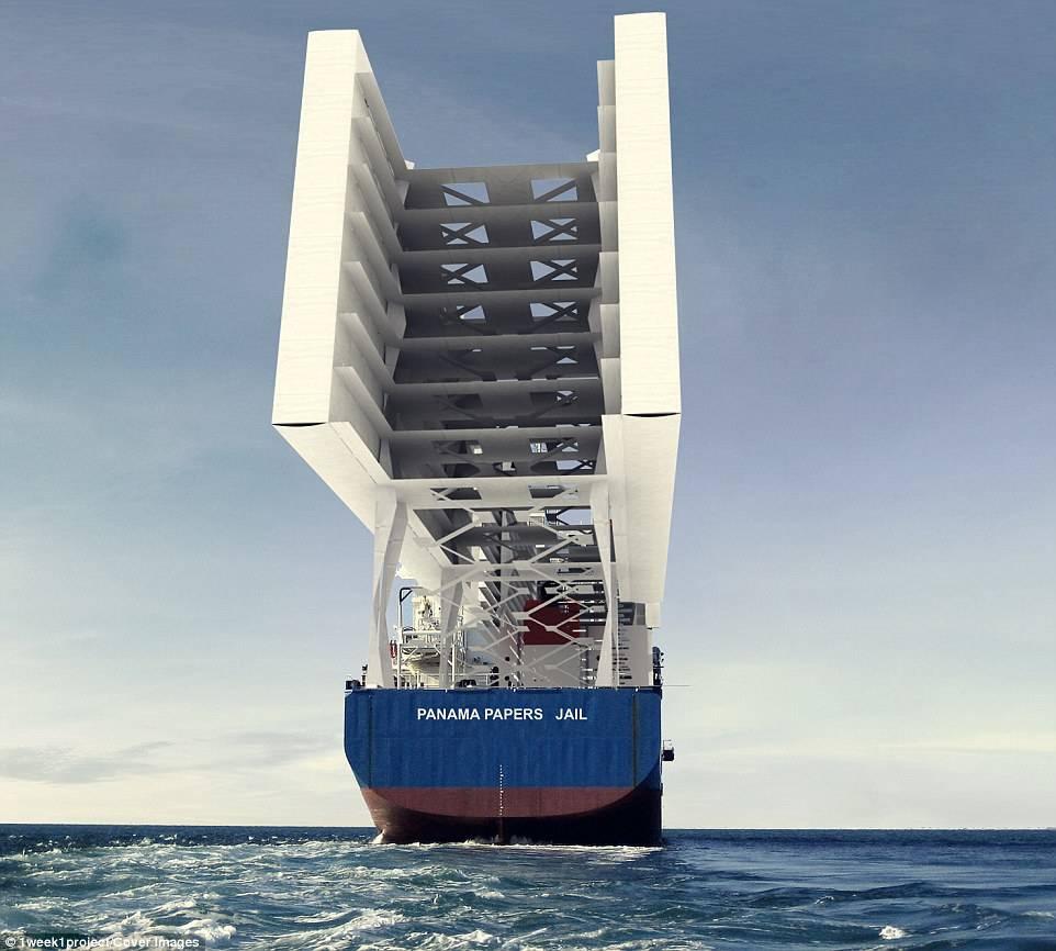 Архитекторы создали концепт корабля-тюрьмы с открытыми камерами 5