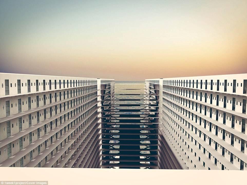 Архитекторы создали концепт корабля-тюрьмы с открытыми камерами 2