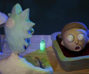 Видео: три ролика, в которых пластилиновые Рик и Морти обыгрывают сцены из классики кинофантастики