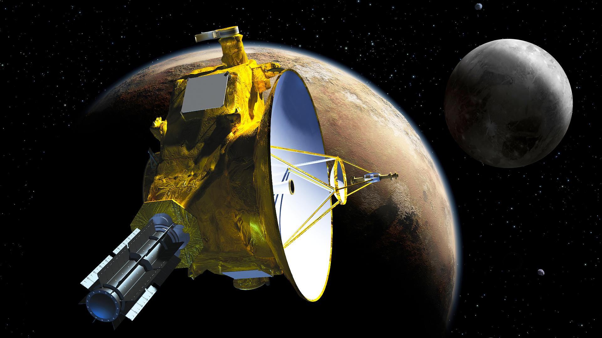 NASA показало полёт над Плутоном и Хароном