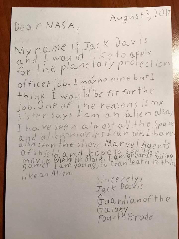 «Я видел все фильмы о космосе и пришельцах»: на вакансию NASA откликнулся 9-летний мальчик 1